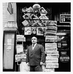 Tony Abbro, newsagent, Old Compton Street, December 1960.