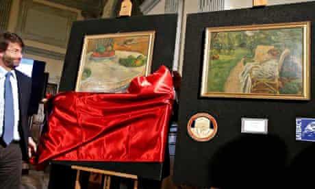 Dario Franceschini unveils Gauguin and Bonnard paintings
