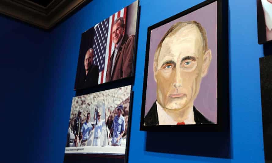 Vladimir Putin Bush painting