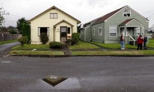 The childhood home of Kurt Cobain, in Aberdeen, Wasington state