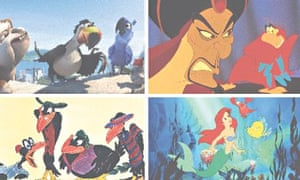 Racial stereotypes: Rio 2 (2014), Aladdin (1992), The Little Mermaid (1989) and Dumbo (1941).