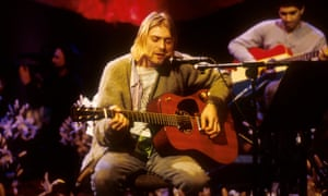 Kurt during the recording of the MTV Unplugged session at Sony Studios in New York in November 1993.