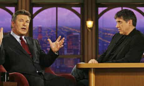 Actor Alec Baldwin speaks to Craig Ferguson