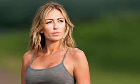 Paulina Gretzky near the 18th fairway during the first round of Tournament of Champions in Hawaii