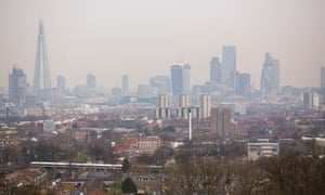London skyline - seen from the top of Nunhead reservoir