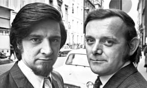 Bob Larbey, right, and John Esmonde.
