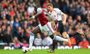 Mohamed Diame is giving the Liverpool defence cause for concern.