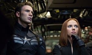 World beater … Chris Evans and Scarlett Johansson in Captain America: The Winter Soldier