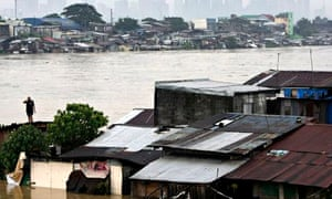 Flooding in Pasig city, east of Manila