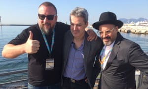 Shane Smith, Keith Hindle and Eddy Moretti at MIPTV.