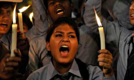India youth -  Delhi Gang-rape protest