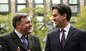 Labour leader Ed Miliband with shadow chancellor Ed Balls
