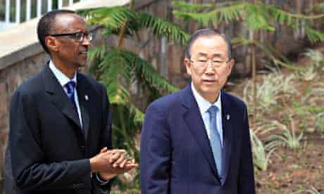 Paul Kagame and Ban Ki-Moon