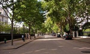 Kensington Palace Gardens … 'so little noise, you can hear birdsong.'