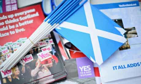 Scotland yes campaign material