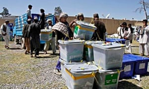 Afghan election workers