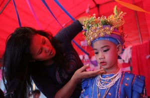 Poy Sang Long: Poy Sang Long Ethnic Buddhist Ordination Festival In Thailand