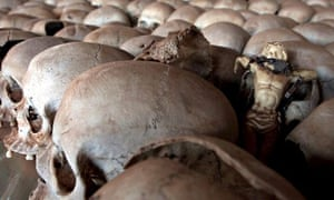 The skulls of genocide victims in Rwanda