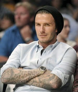 David Beckham at the LA Lakers