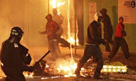 Rioters in Tottenham in 2011