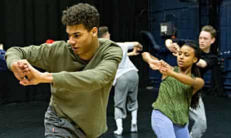 National Youth Dance Company rehearse Akram Khan's The Rashomon Effect