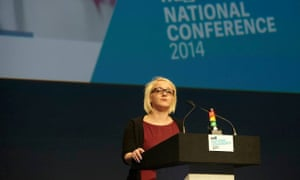 Toni Pearce speaks at the NUS conference