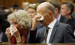 Lois and Arnold Pistorius, aunt and uncle of Oscar Pistorius