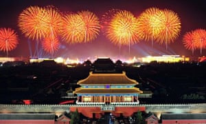 Fireworks Tiananmen Square Beijing