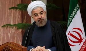 Iranian President Hassan Rouhani attends in Tehran, Iran.