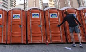 Toilets at the Toronto Marathon.