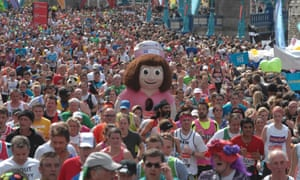 The London Marathon is one of the noisiest and best supported.