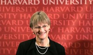 Drew Gilpin Faust, the 28th president of Harvard University in Cambridge, Massachusetts
