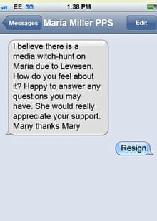 The text message sent by Mary Macleod