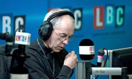 Archbishop of Canterbury live radio phone-in