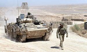Warrior vehicle Helmand