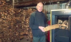 Tony Graham with his biomass boiler