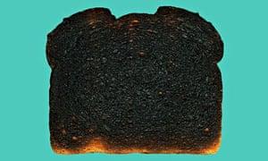 Piece of burnt toast