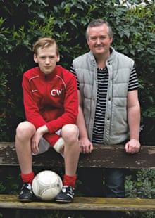football dads: pete wickham with his son charlie