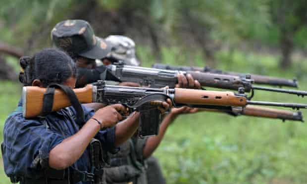 Maoist rebels in Chhattisgarh, India