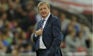 Roy Hodgson at England v Moldova World Cup qualifier at Wembley Stadium