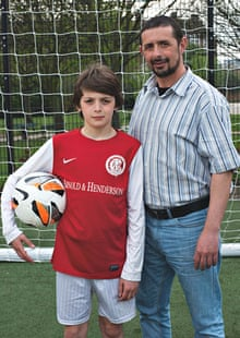football dads: Reda Imansouren and his son Yusuf