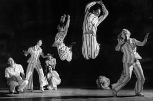 Pajama Game: Dress rehearsals for The Pajama Game, opening in the West End, 1955