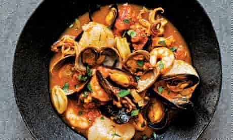 Seafood and saffron stew