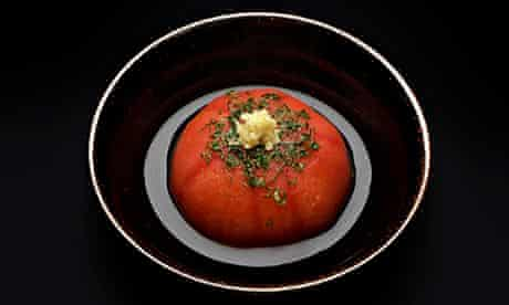 Koya's steamed Dashi tomato