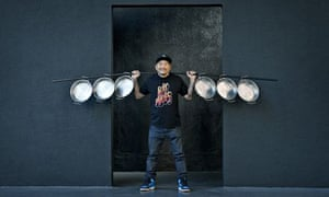 Roy Choi Chef at his Restaurant Pots in Los Angeles.