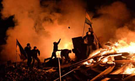Anti-government protesters Kiev