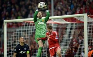 Bayern v United: Manchester United keeper David de Gea