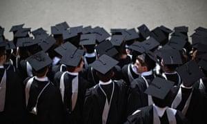 University of Birmingham students take part in their graduation ceremony
