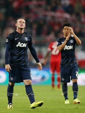 Bayern v United: Wayne Rooney and Shinji Kagawa