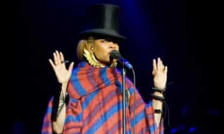 Erykah Badu performing in London in 2010